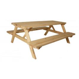 Gaboni 55338 Zahradní set piknik - bez povrchové úpravy - 200 cm