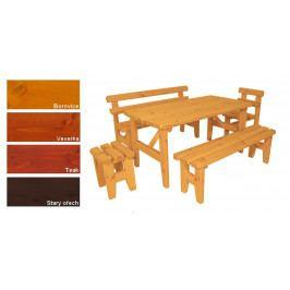 Gaboni 55244 Zahradní dřevěný set z masivu I. - s povrchovou úpravou - 160 cm