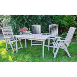 Tradgard 54630 Zahradní křeslo dřevěné HOLIDAY - šedá