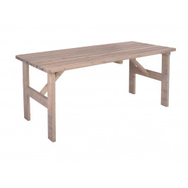 Tradgard 54624 Zahradní masivní dřevěný stůl VIKING šedý - 150 cm