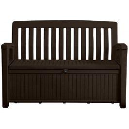 Keter 54590 Zahradní lavice s úložným prostorem PATIO - hnědá