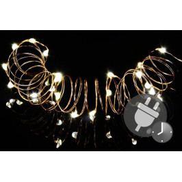 Nexos Trading GmbH & Co. KG 47232 Vánoční světelný řetěz - MINI 100 LED s časovačem - teple bílá