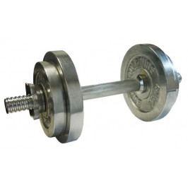 CorbySport 45936  Nakládací činka jednoruční, chromovaná 10kg