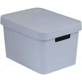 CURVER 41168 Úložný  box plastový s víkem  17L - šedý