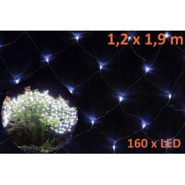 Nexos Trading GmbH & Co. KG 579 Vánoční světelný závěs s LED diodami - 1,2 x 1,9 m, studená bílá