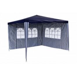Garthen 652 Zahradní párty stan - modrý 3 x 3 m + 2 boční stěny