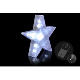 Vánoční dekorace - Světelná hvězda - 20 LED, 35 cm