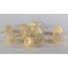 Nexos 57398 LED světelná dekorace - háčkovaná koule - 10 LED teple bílé