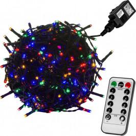 VOLTRONIC® 59755 Vánoční LED osvětlení 5 m - barevná 50 LED + ovladač - zelený kabel