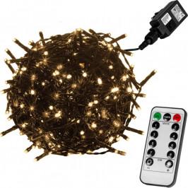 VOLTRONIC® 59754 Vánoční LED osvětlení 5 m - teple bílá 50 LED + ovladač - zelený kabel
