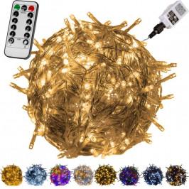 VOLTRONIC® 59736 Vánoční LED osvětlení 10 m - teple bílá 100 LED + ovladač