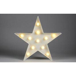 Nexos 59114 Vánoční dekorativní osvětlení - hvězda - 11 LED teple bílá