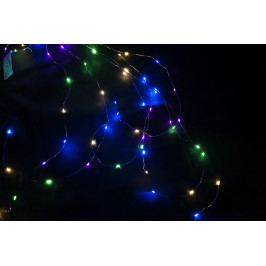 Nexos 59111 Vánoční dekorativní osvětlení – drátky - 64 LED barevné