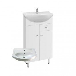 A-interiéry Vilma S 50 ZV - koupelnová skříňka s keramickým umyvadlem