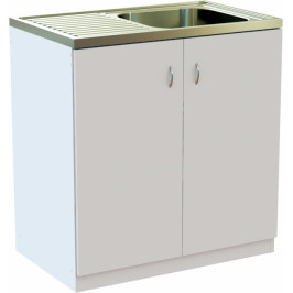 EU Kuchyňská skříňka  80 cm s NEREZ dřezem