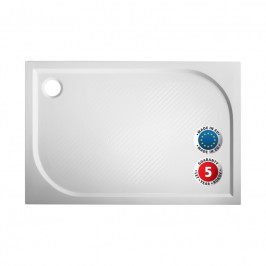 Olsen Spa Obdélníková mramorová sprchová vanička MARBEL PLOVDIV Rozměr: 100 x 80 cm