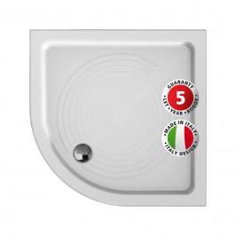 Olsen Spa Keramická čtvrtkruhová sprchová vanička ELARA Rozměr: 80 cm