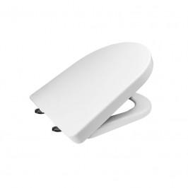 Mereo Samozavírací WC sedátko, hranaté, duroplast, bílé, s odnímatelnými panty CLICK (CSS115)
