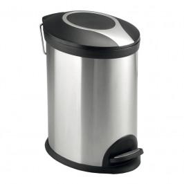 Mereo Odpadkový koš, ovál, 5 l, nerez/plast