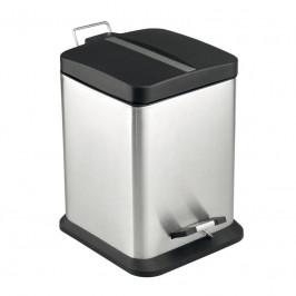 Mereo Odpadkový koš, čtverec, 20 l, nerez/plast