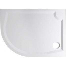 Gelco RIVA sprchová vanička z litého mramoru, čtvrtkruh 100x80cm, pravá