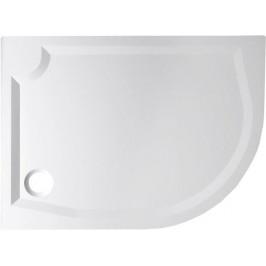 Gelco RIVA sprchová vanička z litého mramoru, čtvrtkruh 120x90cm, levá (GR1290L)