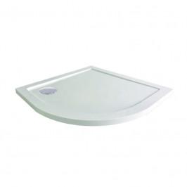 Mereo Čtvrtkruhová sprchová vanička, 90x90x4 cm, R550, SMC