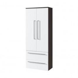 Mereo Koupelnová skříňka, závěsná bez nožiček, bílá/schoko