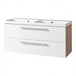 Mereo Koupelnová skříňka s dvojumyvadlem z litého mramoru 120 cm