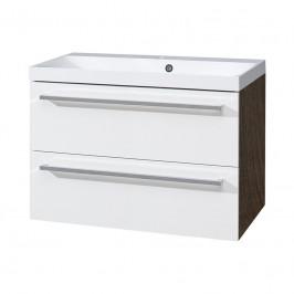 Mereo Koupelnová skříňka s umyvadlem z litého mramoru 80 cm
