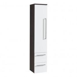 Mereo Koupelnová skříňka, závěsná bez nožiček, levá, bílá/schoko