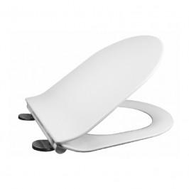 Mereo Samozavírací WC sedátko, duroplast, bílé, s odnímatelnými panty CLICK