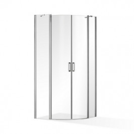 ROSS - Čtvrtkruhová zástěna Luxus 90x90 cm