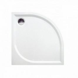 ROSS Čtvrtkruhová sprchová vanička KR80 z litého mramoru 80x80 cm