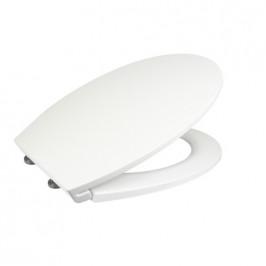 Mereo Samozavírací WC sedátko slim, duroplast, bílé, s odnímatelnými panty CLICK