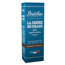 BRIOCHIN Krém na obuv s aplikátorem - čokoládově hnědý 75ml