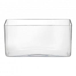 VÁZA, sklo, 15 cm - čiré