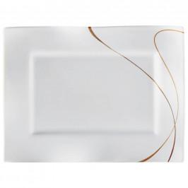 Ritzenhoff Breker PODNOS 25,5X35 CM, keramika, 25,5/35 cm - hnědá, bílá