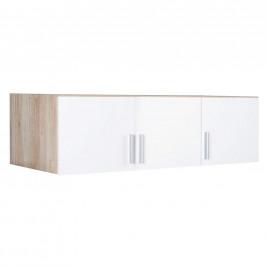 Carryhome NÁSTAVEC NA SKŘÍŇ, bílá, barvy dubu, 136/39/54 cm