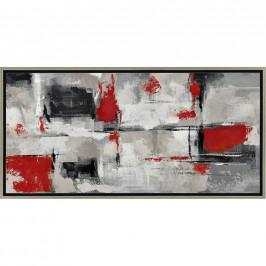 Monee OLEJOMALBA, abstraktní, 150/70 cm - hnědá, červená, černá, bílá
