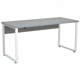 PSACÍ STŮL, šedá, bílá, 160/70/75 cm