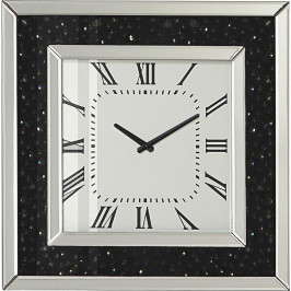 Xora NÁSTĚNNÉ HODINY, černá, barvy stříbra, - černá, barvy stříbra