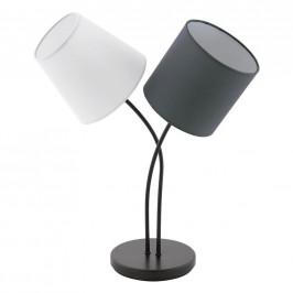 STOLNÍ LAMPA, E14, 38/18,5/47,5 cm - antracitová, černá, bílá