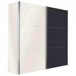Hom`in SKŘÍŇ S POSUVNÝMI DVEŘMI, barvy grafitu, bílá, 150/216/68 cm - barvy grafitu, bílá
