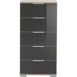 Carryhome KOMODA, šedá, barvy dubu, 49/102/41 cm