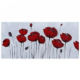 Monee OLEJOMALBA, květiny, 120/55 cm - červená, bílá
