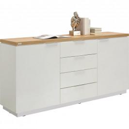 Xora KOMODA, bílá, barvy dubu, 180/88,5/43 cm