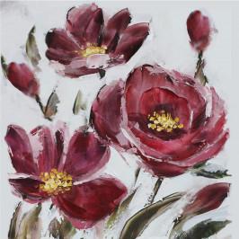 Monee OLEJOMALBA, květiny, 55/55 cm - vícebarevná