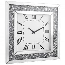 Xora NÁSTĚNNÉ HODINY, barvy stříbra, bílá, 50/50/5 cm - barvy stříbra, bílá