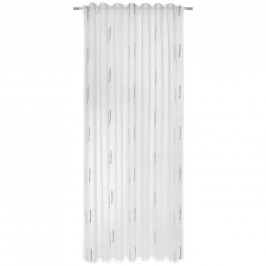 Esposa HOTOVÝ ZÁVĚS, průhledné, 135/245 cm - šedá, bílá
